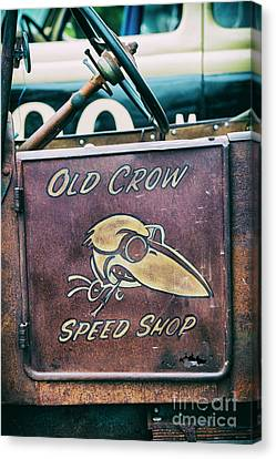 Old Crow Speed Shop Canvas Print