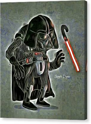 Old Darth Vader - Da Canvas Print by Leonardo Digenio