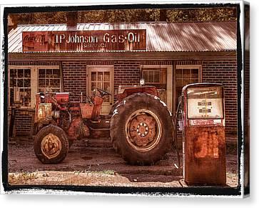 Tn Barn Canvas Print - Old Days Vintage by Debra and Dave Vanderlaan