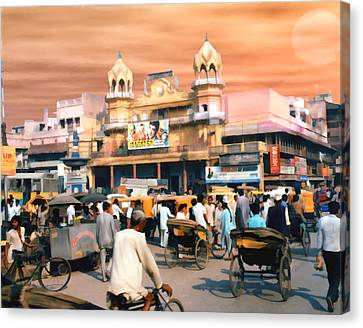 Old Dehli Canvas Print by Kurt Van Wagner