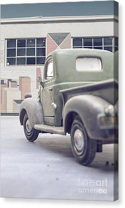 Old Trucks Canvas Print - Old Delivery Truck by Edward Fielding