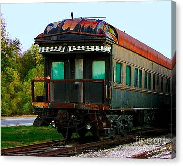 Old Dining Car Canvas Print by Julie Dant