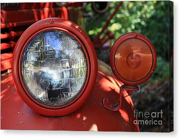 Old Dodge Fire Truck Headlight In Colour Canvas Print