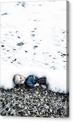 Old Doll On The Beach Canvas Print by Joana Kruse