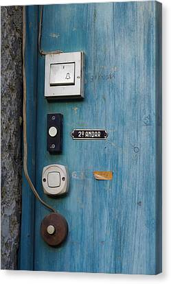 Old Door Bells Canvas Print by Carlos Caetano