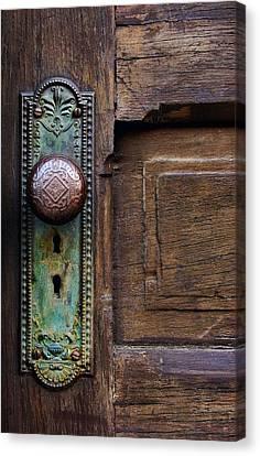 Old Door Knob Canvas Print