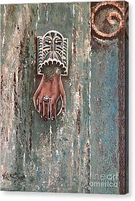 Old Door Knocker Greece  Canvas Print