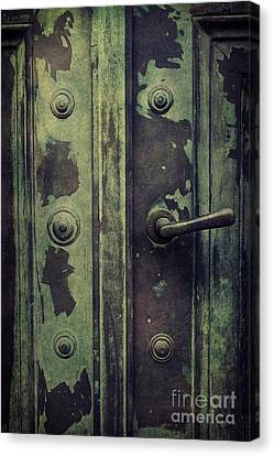 Old Door Canvas Print by Mythja Photography