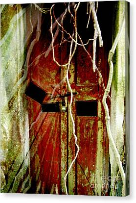 Old Door Set Two Haunted Canvas Print by Kathy Daxon