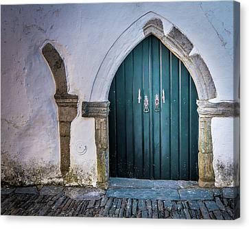 Old Doorway In Monsaraz Canvas Print