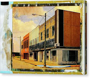 Old Downtown Canvas Print by Dominic Piperata