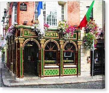 Old Dublin Pubs # 2 Canvas Print by Mel Steinhauer