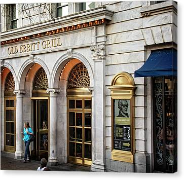 Canvas Print featuring the photograph Old Ebbitt Grill by Chrystal Mimbs