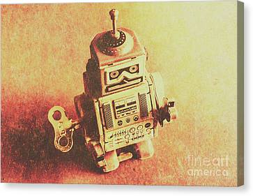 Old Electric Robot Canvas Print