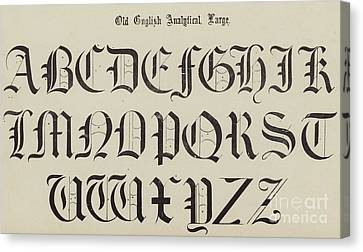 Old English Font Canvas Print
