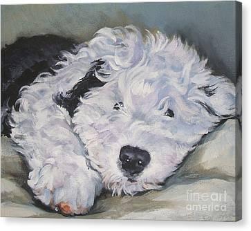 Old English Sheepdog Pup Canvas Print