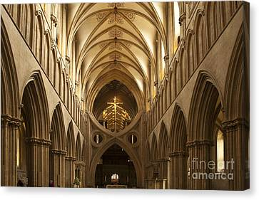 Old English Style Cathedral Canvas Print by Heiko Koehrer-Wagner