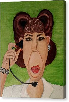 Canvas Print featuring the painting Ol' Ernestien by Carol Duarte