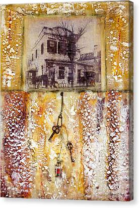 Old Family Store Charleston Sc Encaustic Canvas Print by Bellesouth Studio