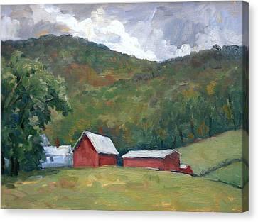 Old Farm Berkshires Canvas Print by Thor Wickstrom