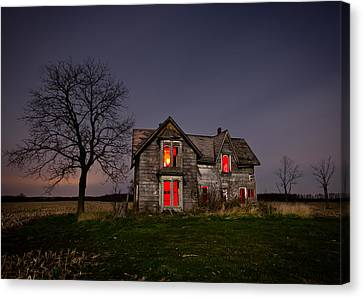 Creepy Canvas Print - Old Farm House by Cale Best