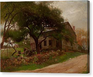 Old Farm House In The Catskills Canvas Print by Arthur Parton