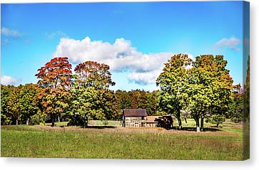 Canvas Print featuring the photograph Old Farm House by Onyonet  Photo Studios