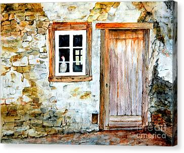 Old Farm House Canvas Print by Sher Nasser