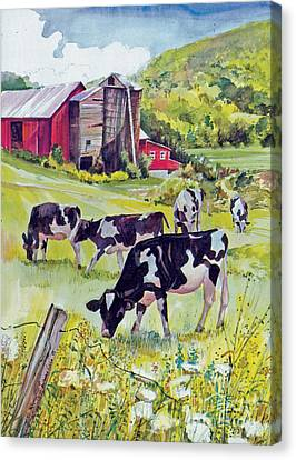 Old Farm Canvas Print by P Anthony Visco