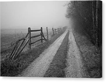 Old Farm Road Canvas Print