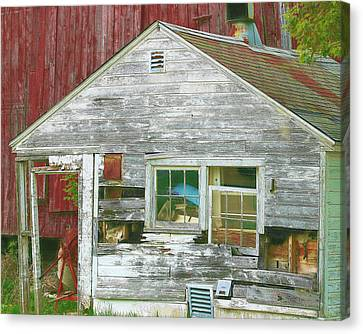 Old Farm Shed Canvas Print by Elaine Frink