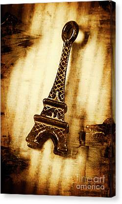Old Fashion Eiffel Tower Souvenir Canvas Print