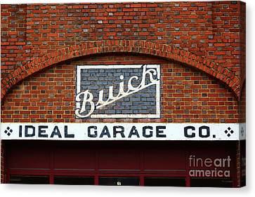 Old Fashioned Buick Garage Sign Canvas Print