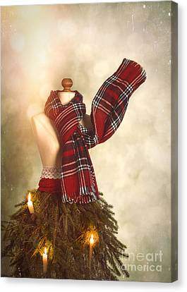 Old Fashioned Christmas Tree Canvas Print by Amanda Elwell