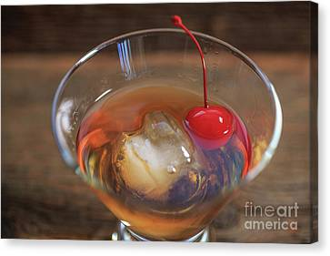 Canvas Print featuring the photograph Old Fashioned Cocktail by Edward Fielding