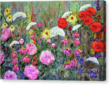 Old Fashioned Garden Canvas Print by Claire Bull