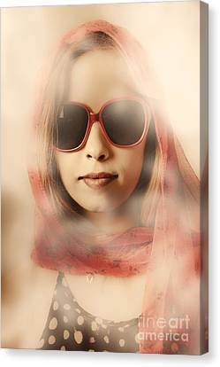 Beautiful Woman Face Canvas Print - Old-fashioned Mysterious Beauty by Jorgo Photography - Wall Art Gallery