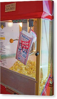 Old-fashioned Popcorn Machine Canvas Print by Steve Ohlsen
