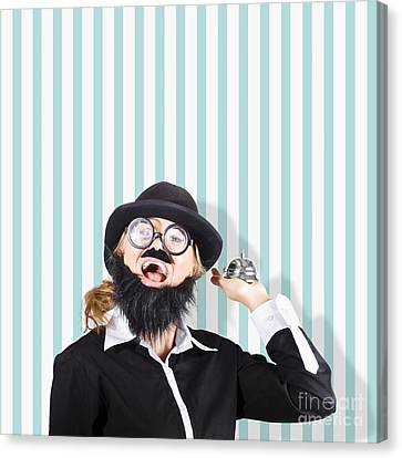 Old Fashioned Sales Service With A Smile Canvas Print