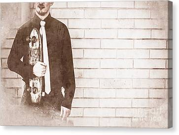 Old-fashioned Skateboarding Canvas Print by Jorgo Photography - Wall Art Gallery
