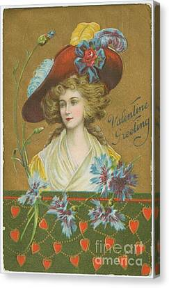 Old Fashioned Valentine Four Canvas Print