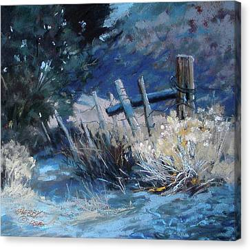 Old Fence Canvas Print by Mary Ann Cherry