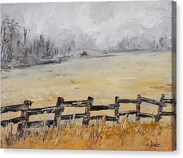 Old Fence Row Canvas Print by Carolyn Doe