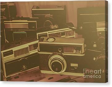 Old Film Cameras Canvas Print