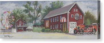 Old Firehouse Winery  Canvas Print by Terri  Meyer