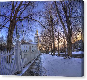 Old First Church - Bennington Vt. Canvas Print by Joann Vitali