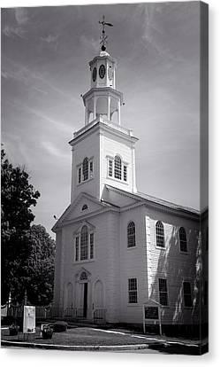 Old First Church Of Bennington - Bw Canvas Print
