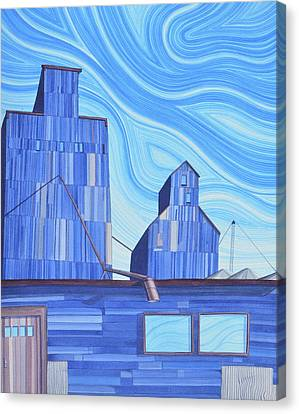 Canvas Print featuring the painting Old Flat Top by Scott Kirby