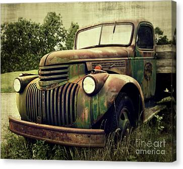 Old Flatbed Canvas Print by Perry Webster