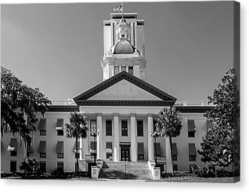 Old Florida Capitol In Black And White  Canvas Print by Frank Feliciano